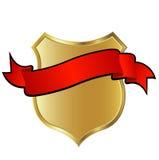 Goldenes Schild Lizenzfreies Stockfoto