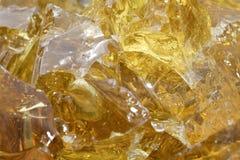 Goldenes Schlacke-Glas Lizenzfreie Stockfotografie