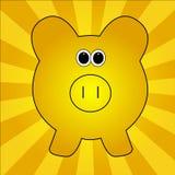 Goldenes Schwein Stockbild