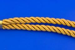 Goldenes Seil Stockfotografie