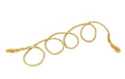 Goldenes Seil lizenzfreie stockbilder