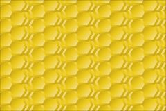 Goldenes Sexangle stock abbildung
