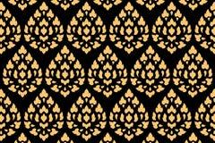 Goldenes siamesisches Artmuster stockfotos
