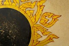 Goldenes siamesisches Muster Stockbilder