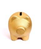 Goldenes Sparschwein vom Vorderseite Lizenzfreies Stockbild