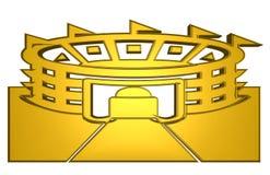 Goldenes Stadion für Ikone und Symbol lizenzfreie abbildung
