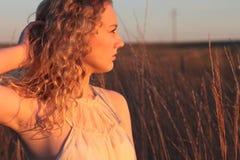 Goldenes Stunden-Portrait Stockfotos