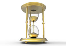 Goldenes Stundenglas Lizenzfreies Stockfoto