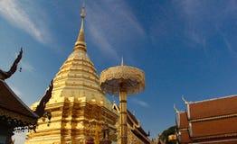 Goldenes stupa Stockfotografie