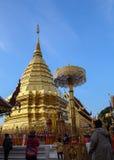 Goldenes stupa Lizenzfreie Stockbilder