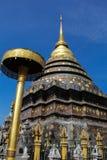 Goldenes stupa im lumpang Stockbild