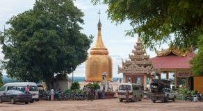 Goldenes stupa von BU Paya-Pagode Stockbild