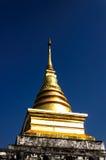 Goldenes stupa in Wat Nan, Thailand Stockfotografie