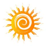 Goldenes Sun-Logo herein Stockfoto