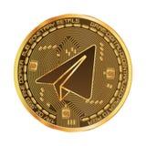 Goldenes Symbol des Schlüsselwährungsgramms Stockfoto