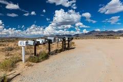 GOLDENES TAL, ARIZONA - 6. SEPTEMBER: Ansichten von Postkästen entlang Stockbild