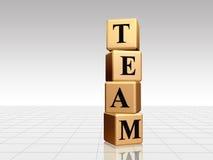 Goldenes Team mit Reflexion Lizenzfreie Stockfotografie