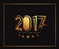 Goldenes Text-Design des guten Rutsch ins Neue Jahr-2017 Stockbilder