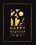 Goldenes Text-Design des guten Rutsch ins Neue Jahr-2017 Stockbild