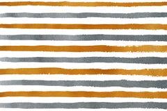 Goldenes und silbernes Schmutzstreifenmuster Lizenzfreie Stockbilder