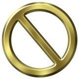 Goldenes verbotenes Zeichen stock abbildung