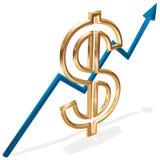 Goldenes Wachstum Lizenzfreies Stockfoto