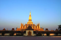 Goldenes Wat in Laos stockbild