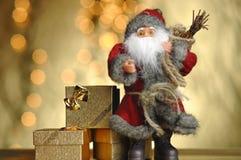 Goldenes Weihnachten. Stockbild