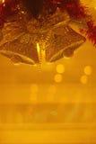 Goldenes Weihnachten Lizenzfreie Stockfotos