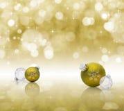 Goldenes Weihnachten Stockfotos