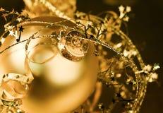 Goldenes Weihnachten Stockfotografie