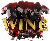 Goldenes Wort im Wein Lizenzfreies Stockfoto
