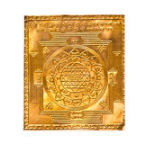Goldenes yantra auf Weiß hergestellt Lizenzfreie Stockfotos