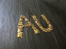 Goldenes Zeichen Stockfotografie