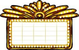 Goldenes Zeichen Stockfoto