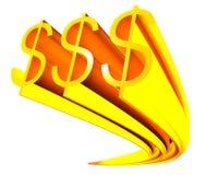 Goldenes Zeichen des Dollars Lizenzfreies Stockbild