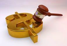 Goldenes Zeichen des Dollars Lizenzfreie Stockfotos