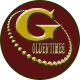 Goldenes Zeiten Logo stockfotografie