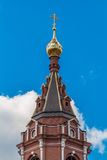 Goldenet Dome av templet Arkivfoton