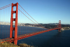 GoldenGate. Goldent Gate Bridge in the evening hours as seen from the baker beach Stock Image