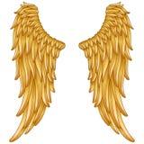 Goldengelsflügel stock abbildung