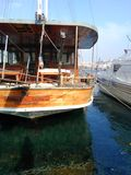 Goldenhorn boat turkey love Royalty Free Stock Photography