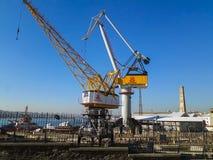 Goldenhorn Shipyard & Winches Istanbul. Goldenhorn Shipyard Big Winches Stock Images