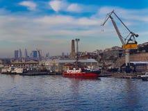 Goldenhorn stoczni Unkapani Denny Dźwigowy most zdjęcie royalty free