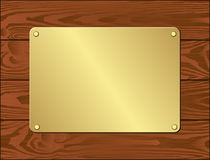 Goldenl plate Royalty Free Stock Image