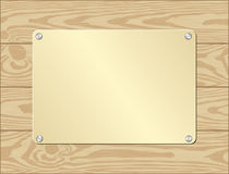Goldenl platta Royaltyfria Bilder