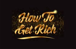 Goldenlogotype copy 56. How to get rich gold word text with sparkle and glitter background suitable for card, brochure or typography logo design stock illustration