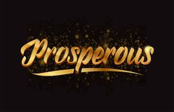 Goldenlogotype copy 17. Prosperous gold word text with sparkle and glitter background suitable for card, brochure or typography logo design Stock Photo
