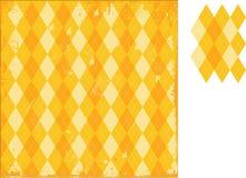 GoldenRod Argyle Grunge Royalty Free Stock Image