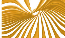GoldenRod Color Lines Waves Wallpaper. On White Background Stock Image